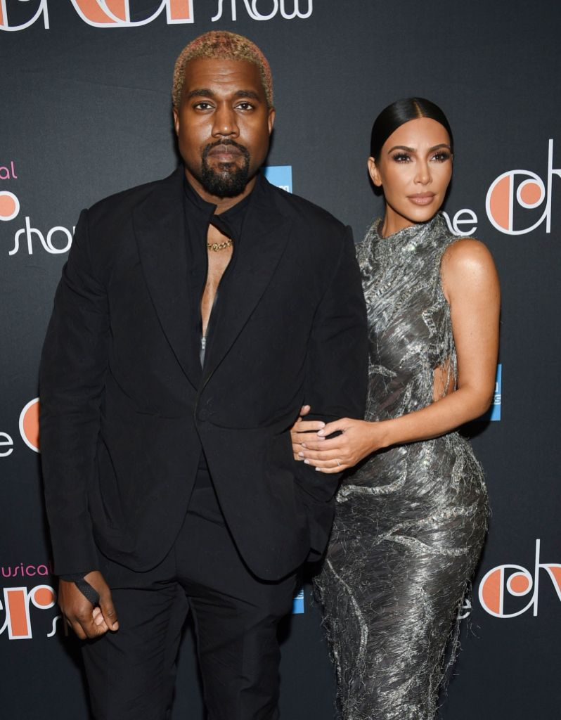 Kim Kardashian and Kanye West Look Tense