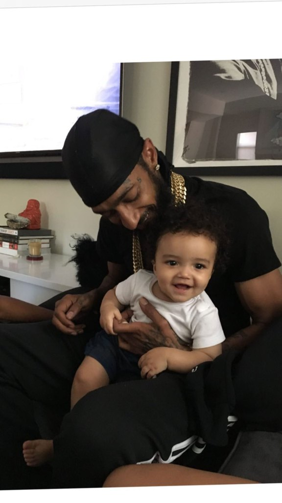 Lauren London Shares Photo of Late Boyfriend Nipsey Hussle and Son Kross