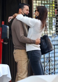 Katie Holmes and Emilio Kissing
