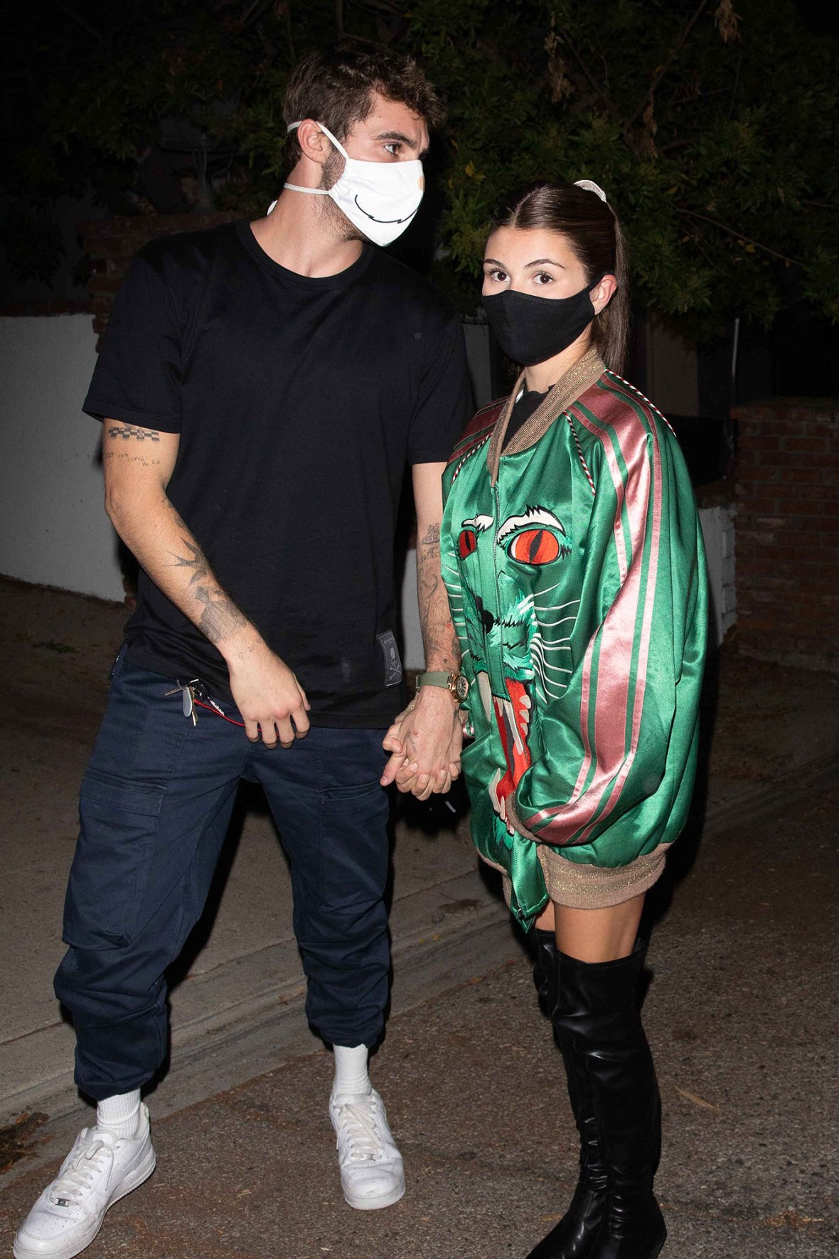 Olivia Jade and Jackson Guthy Funny Faces Dinner