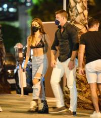 Francesca Farago packs on the PDA with Damian Powers during a night out in Hollywood!