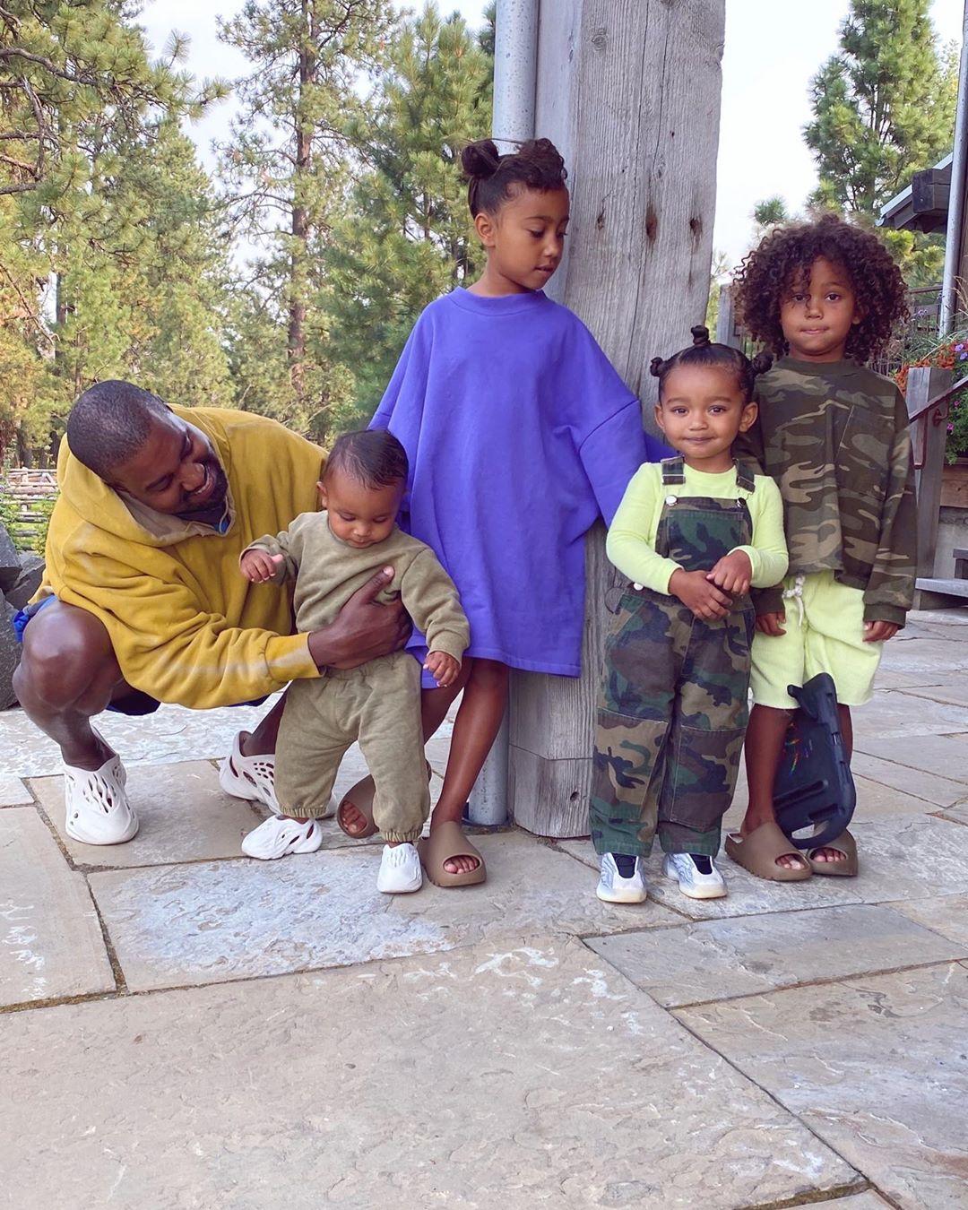 Kim Kardashian Shares Cute Photos of Kids and Kanye West