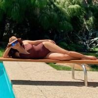 salma-hayek-brown-swimsuit