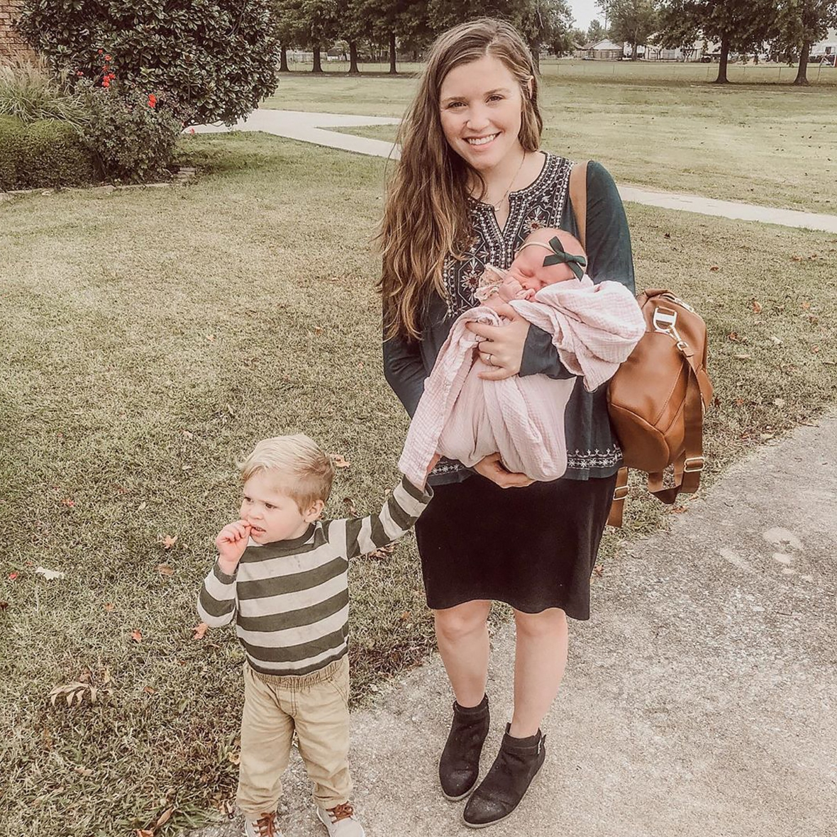 Joy-Anna Duggar Responds to 'Concerned' Fan After Sharing New Photo With Baby Girl: 'I Wasn't About to Drop Her'