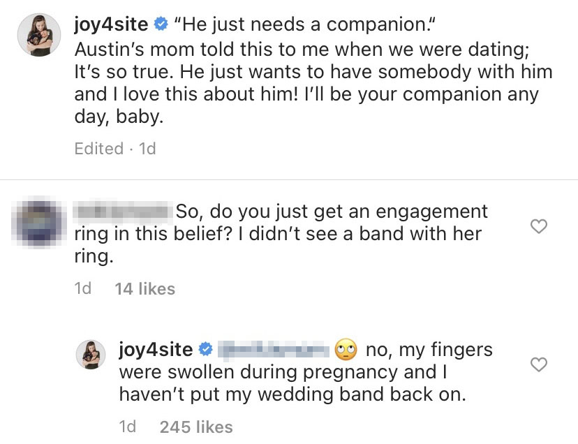 Joy-Anna Duggar Slams Troll Over Wedding Band
