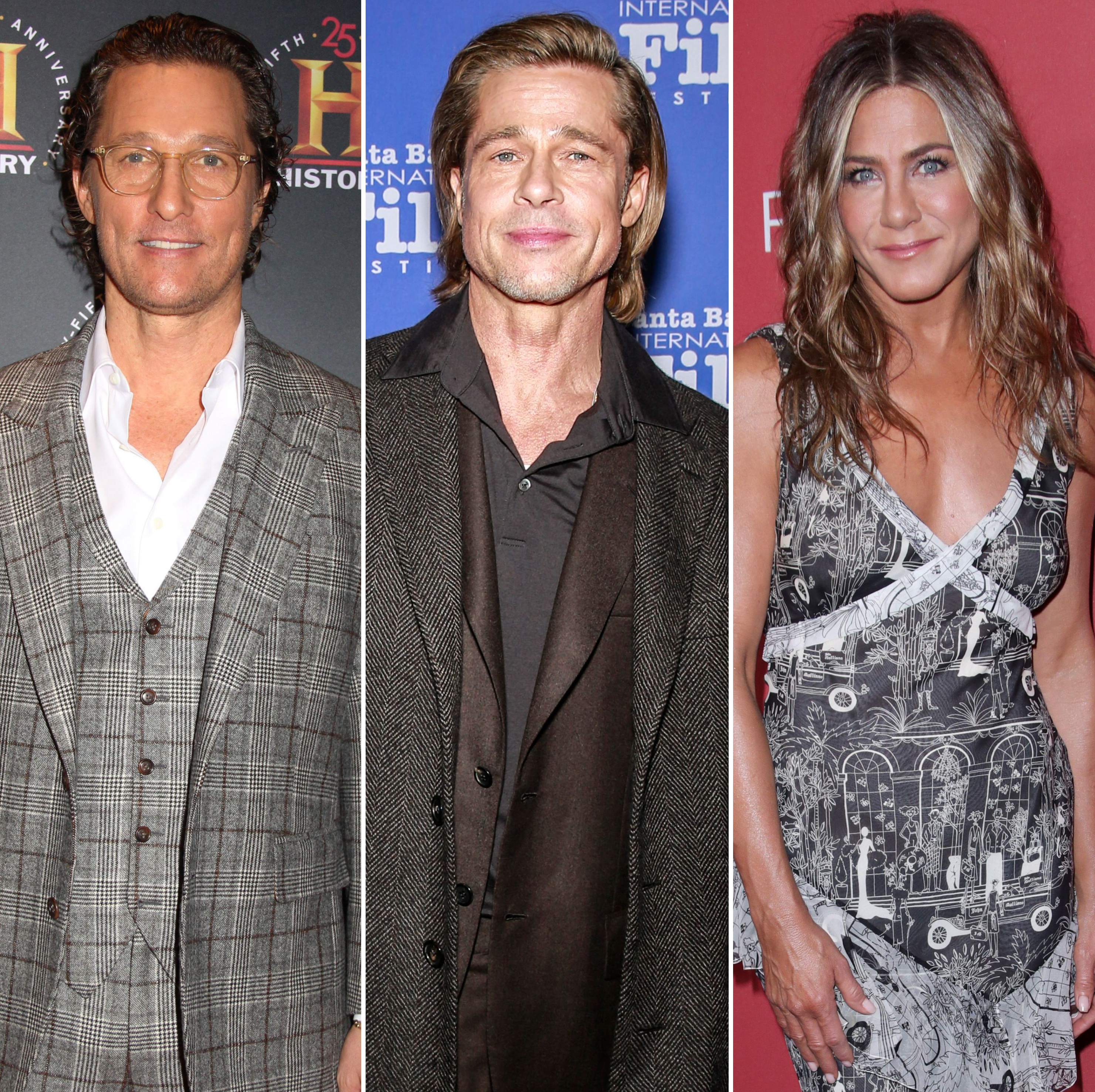 Ow, Ow! Matthew McConaughey Reacts to Brad Pitt and Jen Aniston's 'Sexual Tension' During Table Read