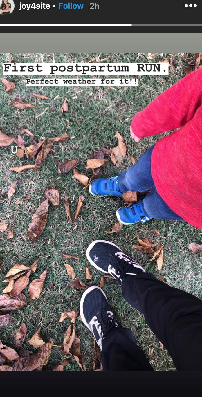 Joy-Anna Duggar Enjoys 1st Postpartum Run After Welcoming Daughter
