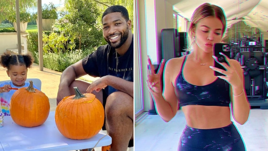 Tristan and True Paint Pumpkins Amid Rekindled Khloe Romance