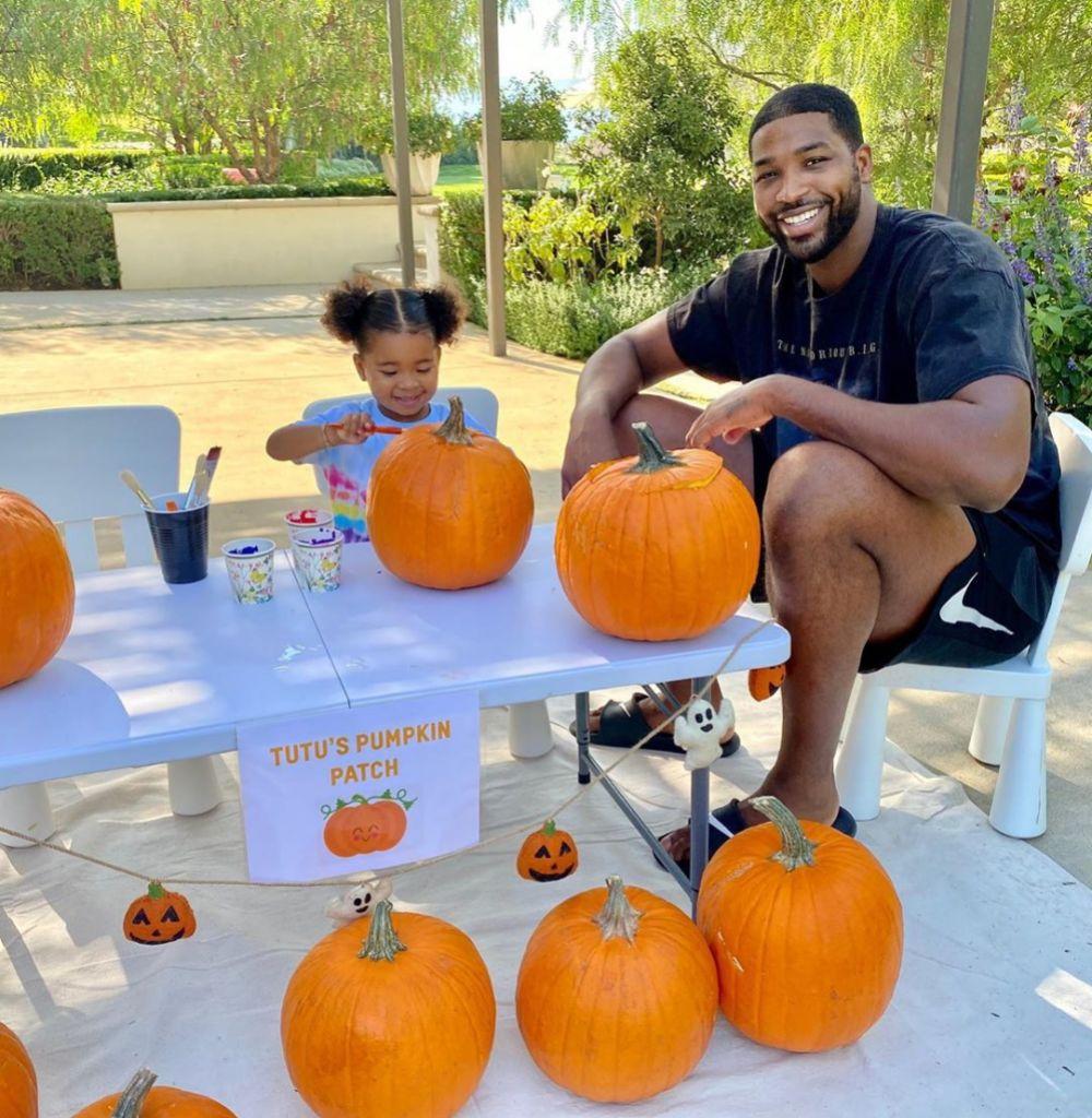 Tristan and True Paint Pumpkins