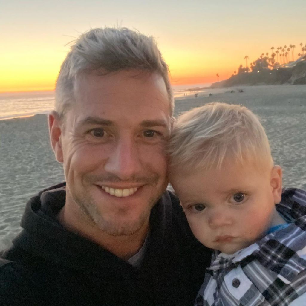 Ant Anstead Selfie With Hudson on the Beach