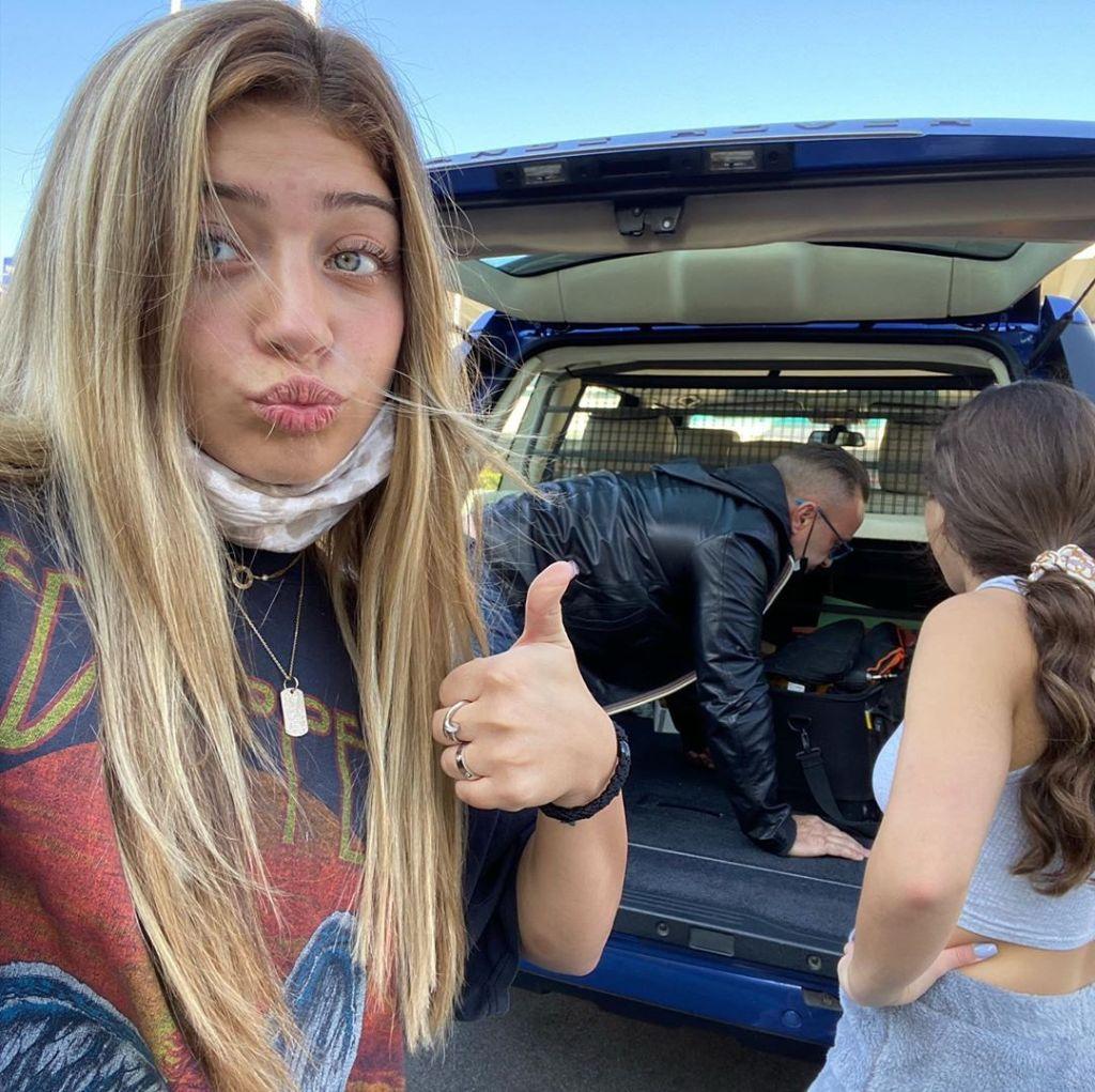 Gia and Milania Giudice Reunite With Dad Joe in Italy