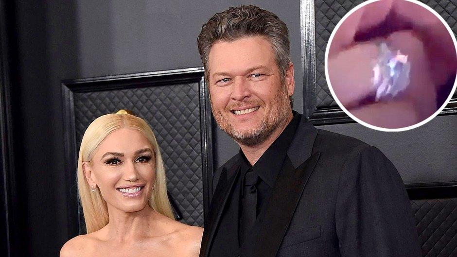 Gwen Stefani Engagement Ring Is Blinding Her Dazzling New Bling After Engagement Blake Shelton