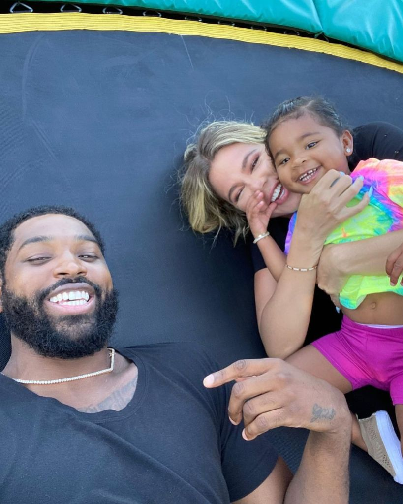 Khloe Tristan True on Trampoline
