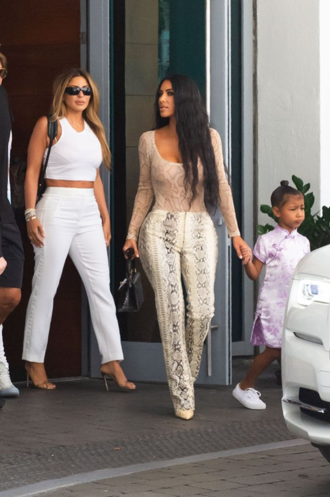 Kim Larsa and North Out and About