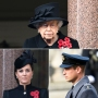 Queen Elizabeth and Duchess Kate Attend Remembrance Sunday Service in London