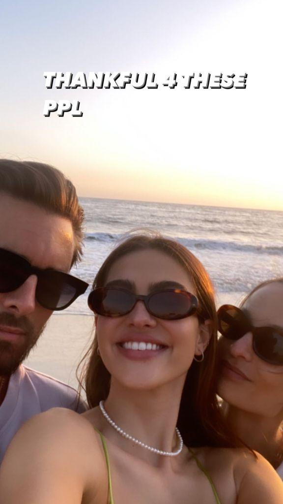 Amelia Gray Hamlin Shares Photo of Scott Disick, Is 'Thankful