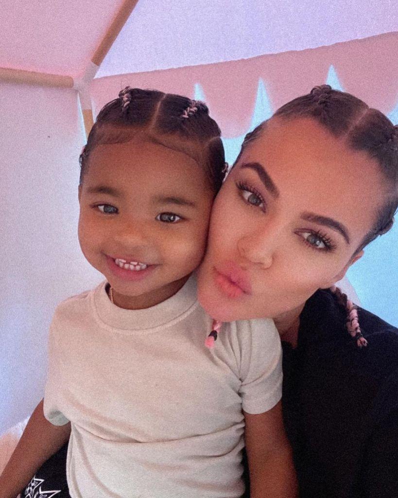 Khloe Kardashian Selfie Daughter True Thompson Tristan Thompson Comments Queen and Princess