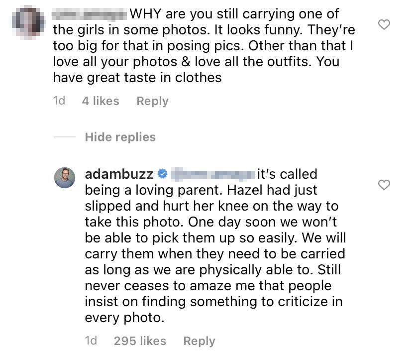 Adam Busby Claps Back Over Backlash for Holding Hazel
