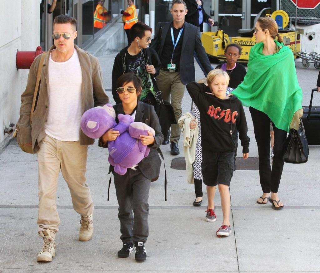 Brad Pitt Photos With His Kids