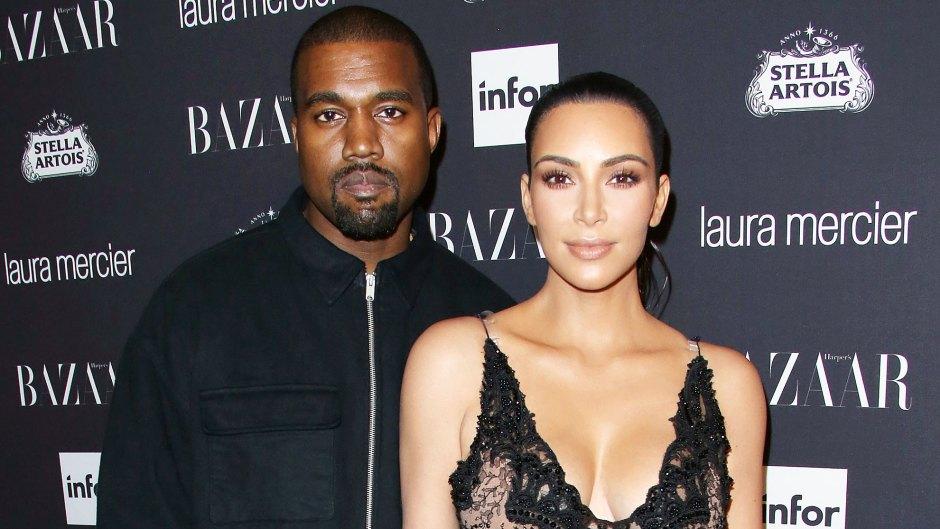 Kanye West and Kim Kardashian West at Harpers Bazaar Celebrates ICONS party Kim Kardashian and Kanye West Are Worlds Apart Following Marital Drama