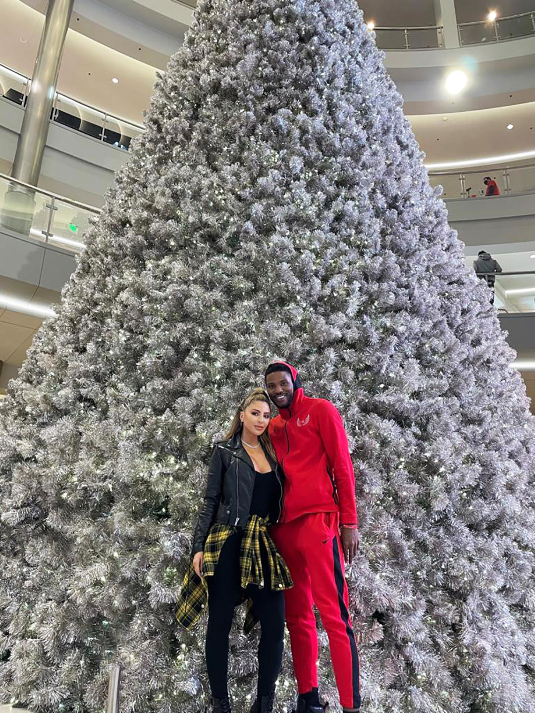 Larsa Pippen and Malik Beasley Cozy Up in Front of Christmas Tree During Holiday Visit to His Hometown