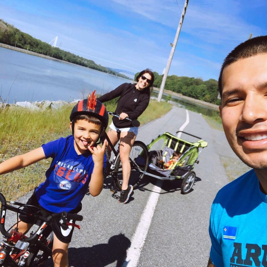 Lauren Comeau Photos With Javi and Kids