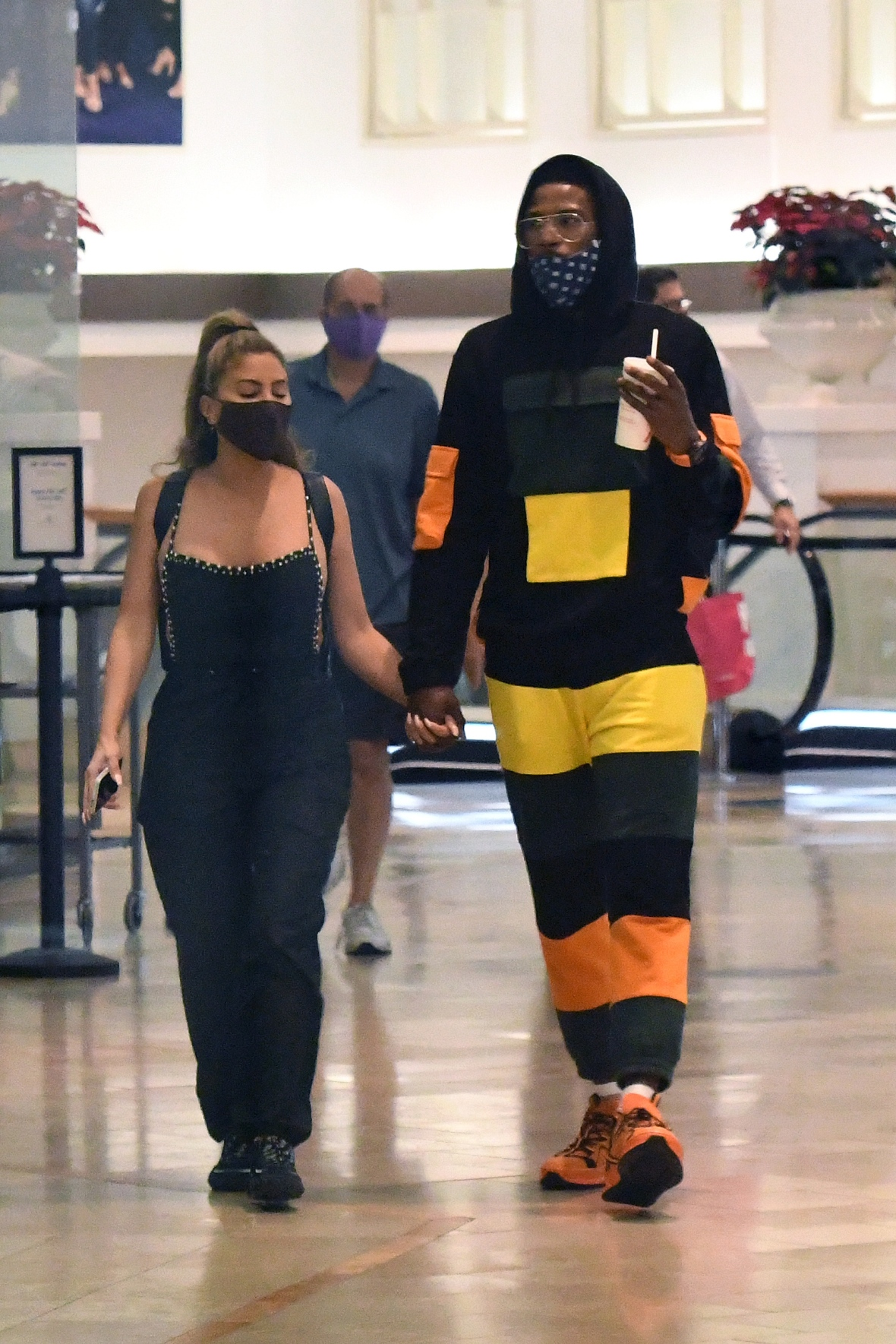 Malik Beasley Holding Hands With Larsa Pippen Date