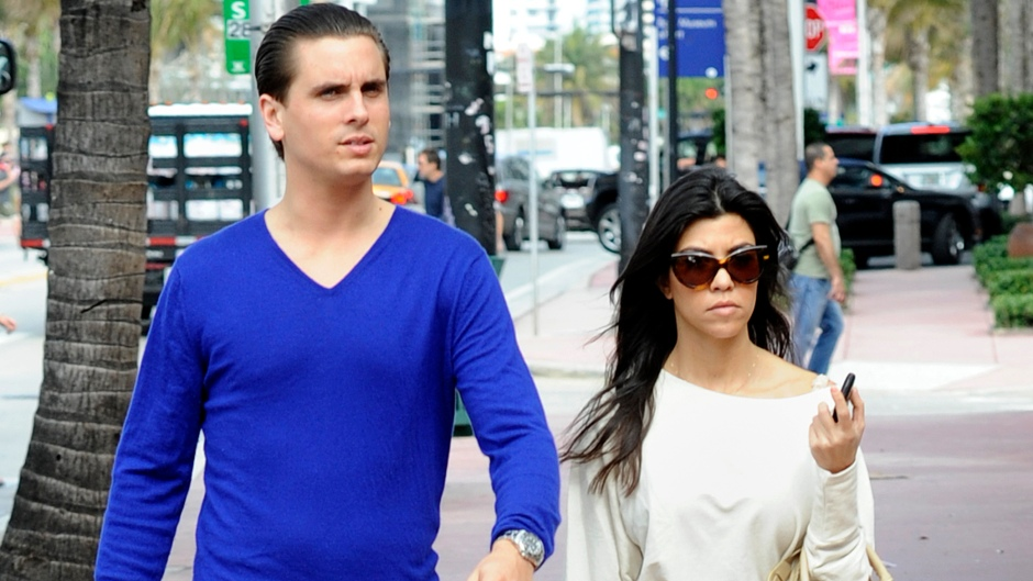 Kourtney Kardashian and her boyfriend Scott Disick are seen clothes shopping in Miami