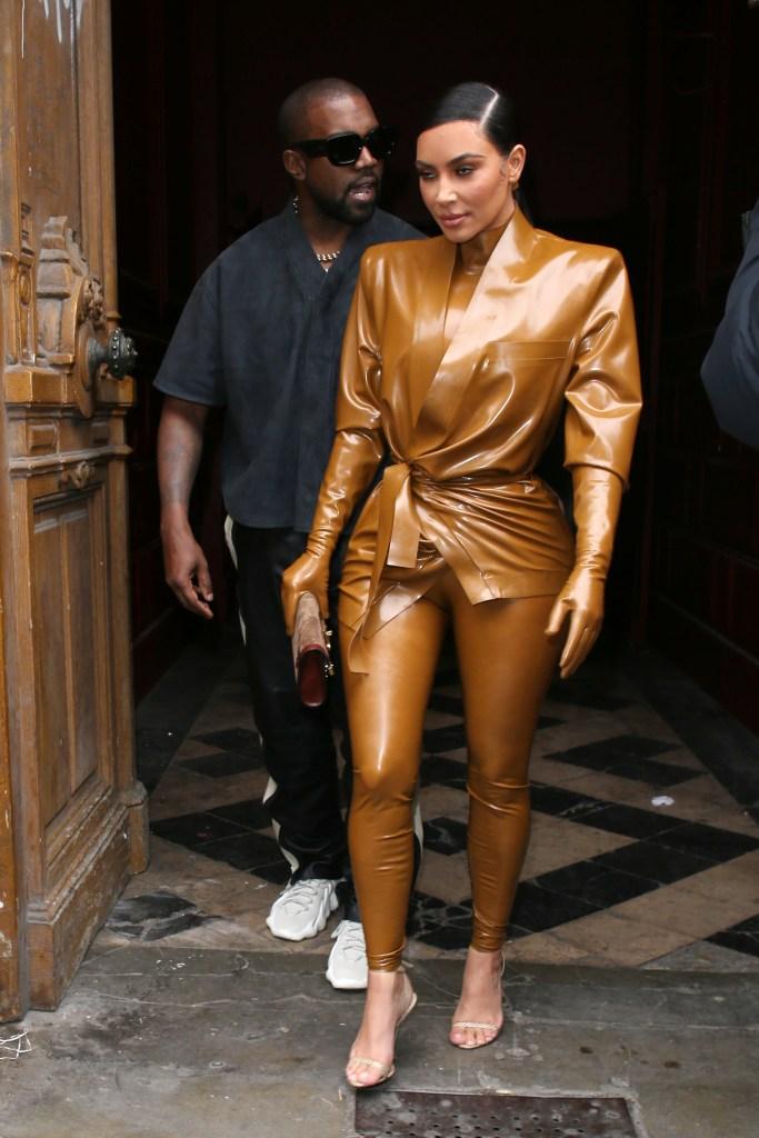 Kim Kardashian Kanye West Paris Fashion Week