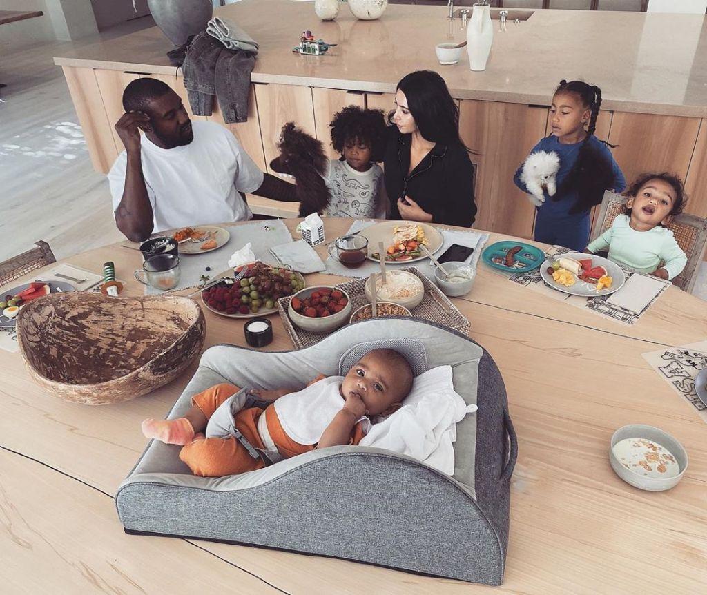 kim kardashian kanye west and kids