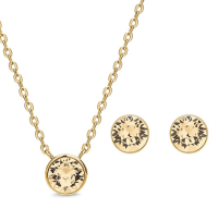 AURA-18K-Gold-Plated-Pendant-Necklace-and-Crystal-Stud-Earring-Jewelry-Set