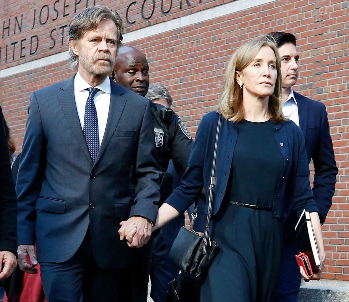 William H Macy and Felicity Huffman Leaving Court Netflix Operation Varsity Blues Everything You Need to Know About College Scandal-Inspired Documentary