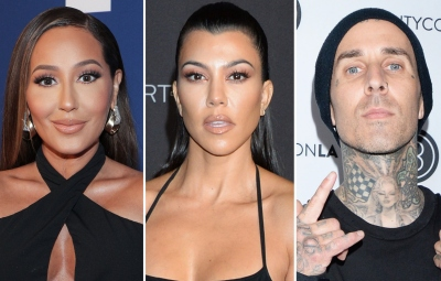 Adrienne Bailon Is 'Happy' Kourtney Kardashian Found Love With Boyfriend Travis Barker: 'I'm Thrilled'