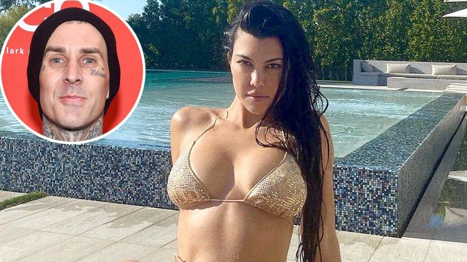 Kourtney Kardashian Hottest Bikini Pics Amid Travis Barker Romance