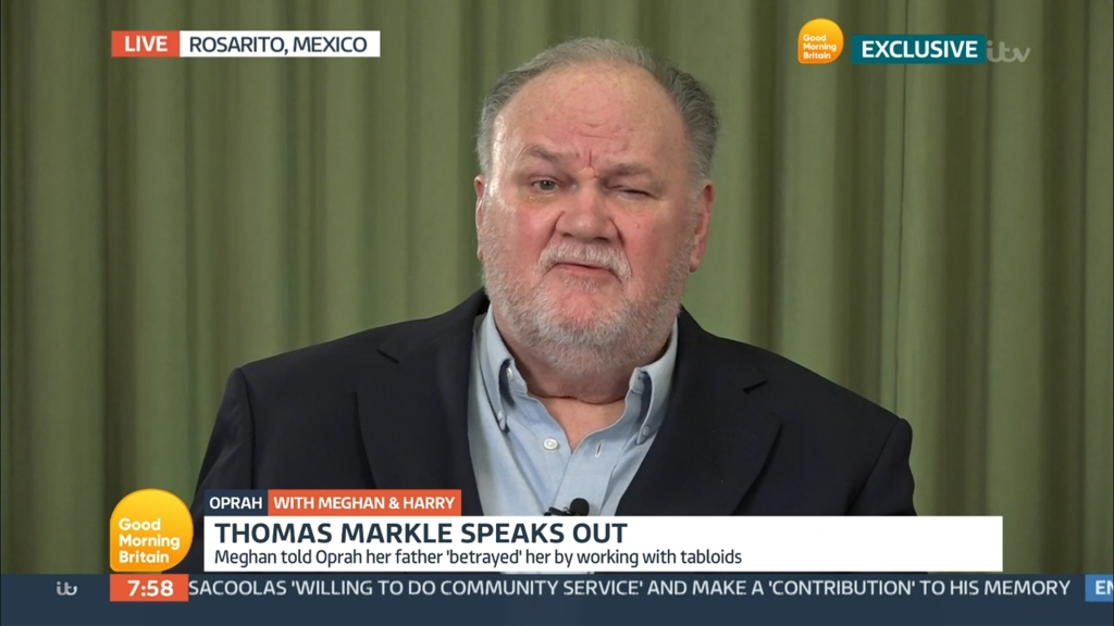Thomas Markle Comments on 'Good Morning Britain'