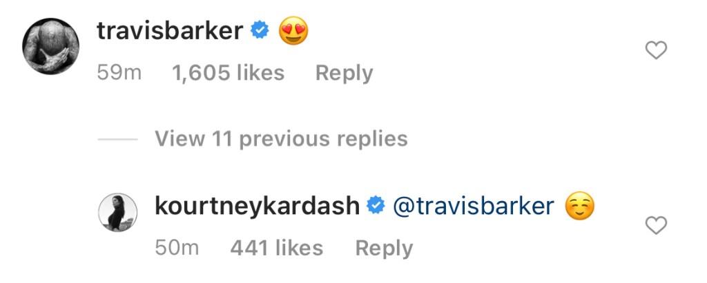 travis barker comment kourtney kardashian sexy bikini photos ig march 2021