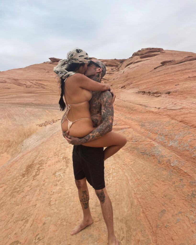 Younes Bendjima Shares a Shady Message After Kourtney Kardashian Posts PDA Pic With Travis Barker