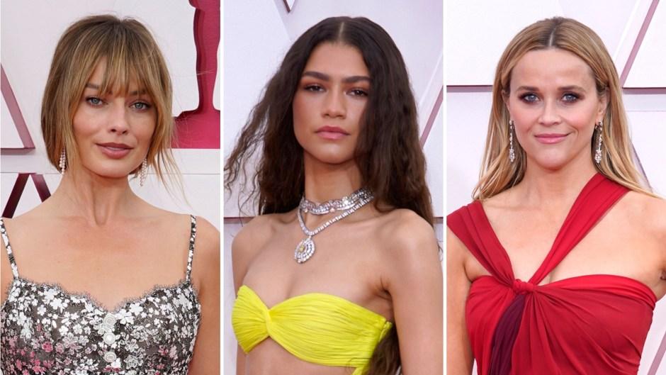 2021 Oscars Red Carpet Margot Robbie Zendaya Reese Witherspoon