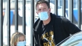 Ben Affleck gets back to Dad's duty taking his son Sam to swim team practice in Los Angeles