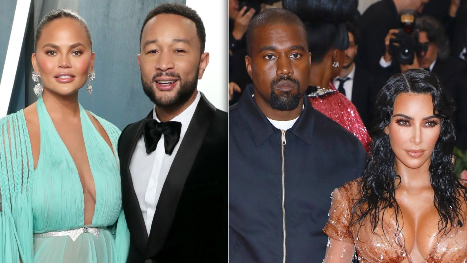 Chrissy Teigen Reveals Where John Legend's Friendship With Kanye Stands After Kim Divorce