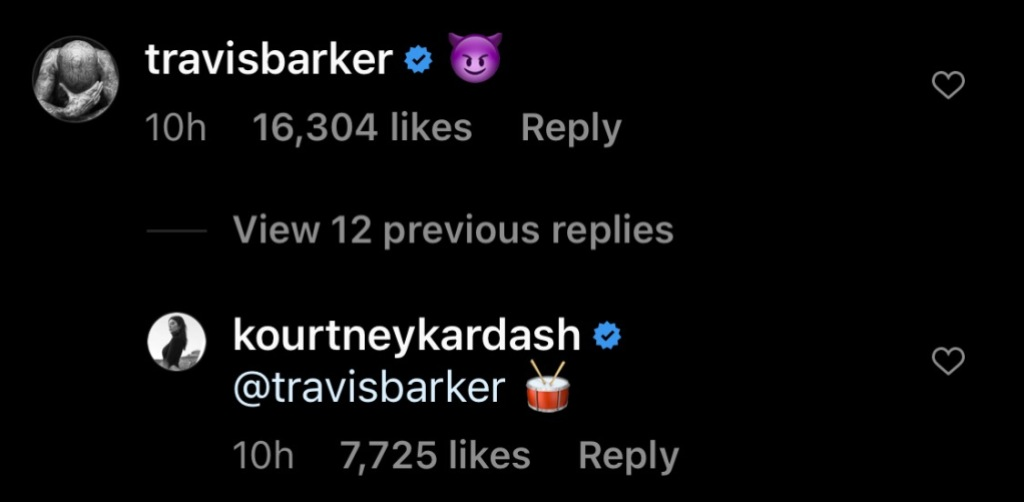Kourtney Kardashian Shares NSFW Post About Travis Barker: 'We Ain't Seen a Thing Tonight'