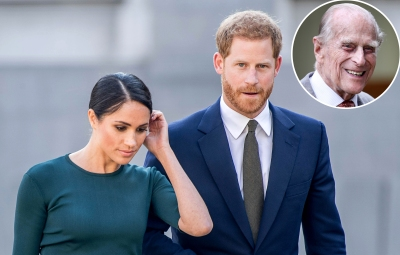 Prince Harry Will 'Miss' Pregnant Wife Meghan Markle While He Attends Prince Philip's Funeral
