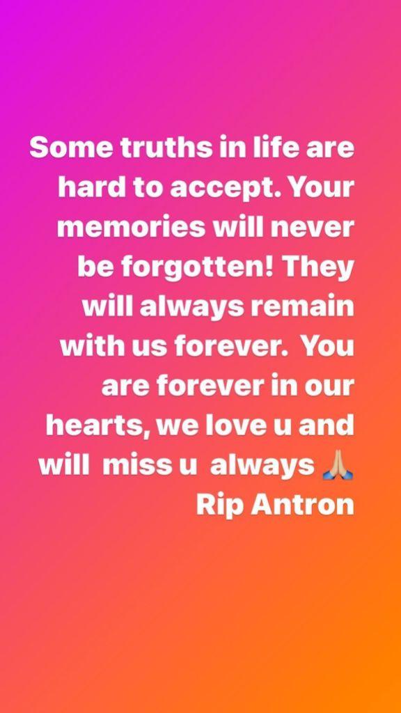 Larsa Pippen Post After Scottie Pippen Oldest Son Antron Died
