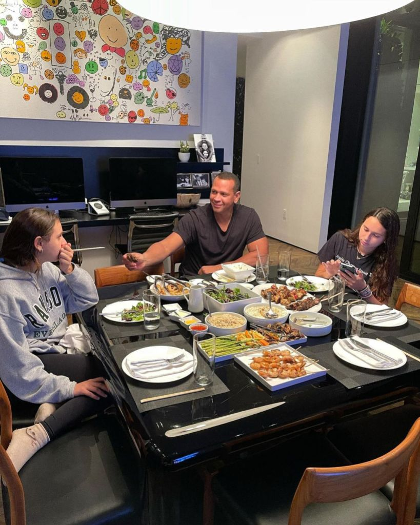 Alex Rodriguez Has Table Settings for Empty Chairs During Family Dinner Post- J. Lo Split