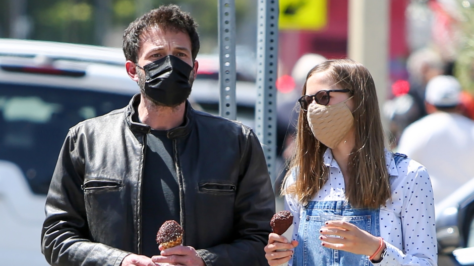 Ben Affleck and Daughter Violet Enjoy Ice Cream Date Amid Jennifer Lopez Romance Rumors