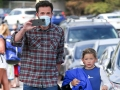 Ben Affleck picks up his son Samuel from swimming practice