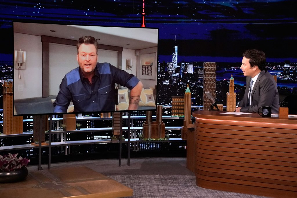 Blake Shelton Reveals His and Gwen Stefani Epic First Dance Song for Upcoming Wedding Tonight Show Jimmy Fallon