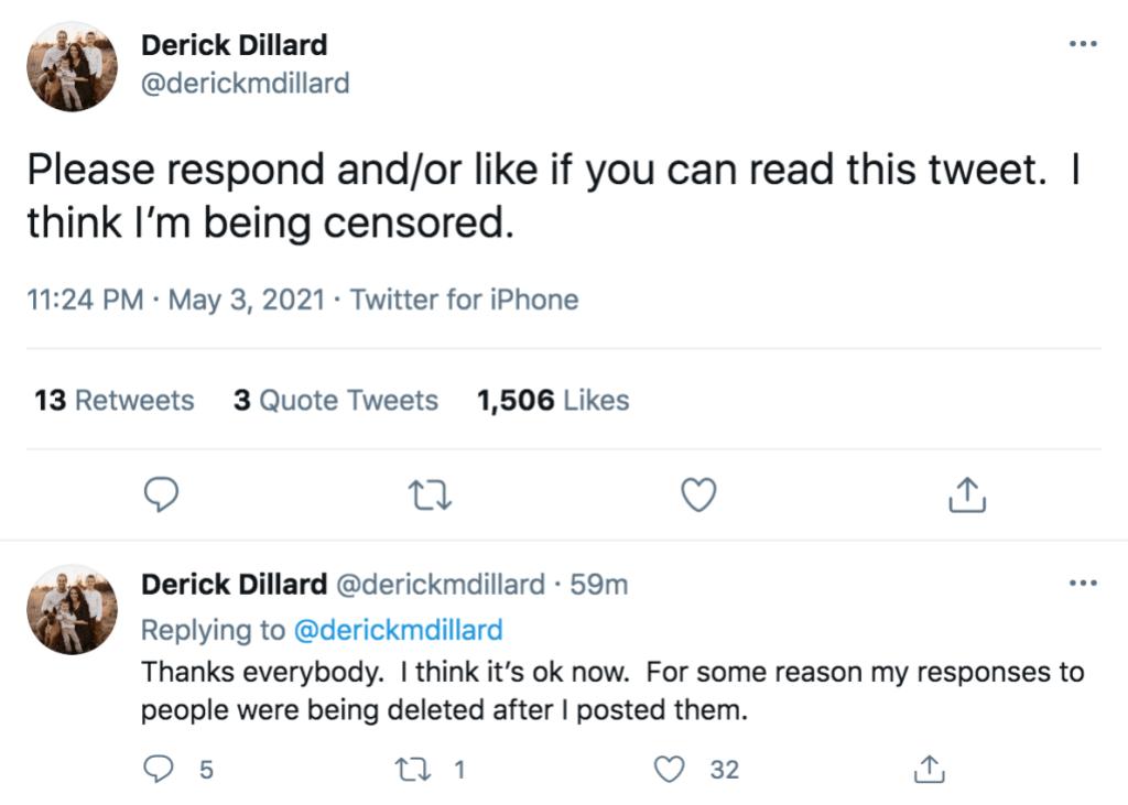 Derick Dillard Censored