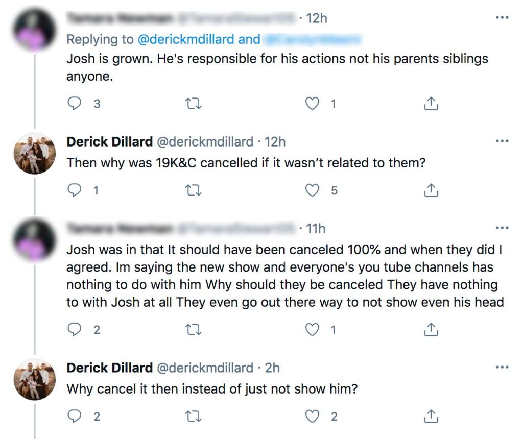 Jill Duggar's Husband Derick Dillard 'Likes' Tweets Calling for TLC to Cancel 'Counting On,' Duggar Family