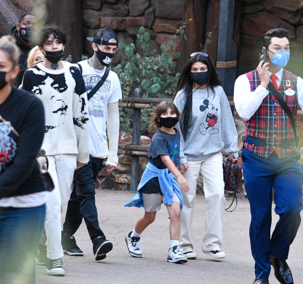Kourtney Kardashian Travis Barker Disneyland With Kids 4